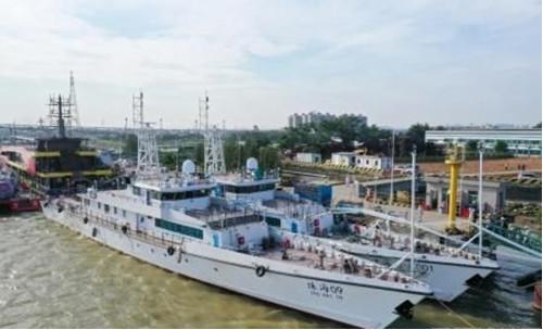 """江龙船艇55米应急执法船""""珠海应急001""""成功试航"""